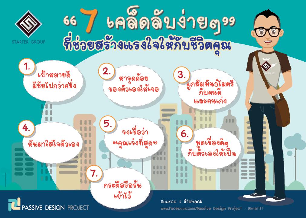 7 เคล็ดลับง่ายๆ ที่ช่วยสร้างแรงใจให้กับชีวิตคุณ